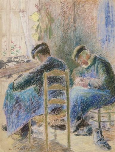 Artwork by Camille Pissarro, Les Cordonniers