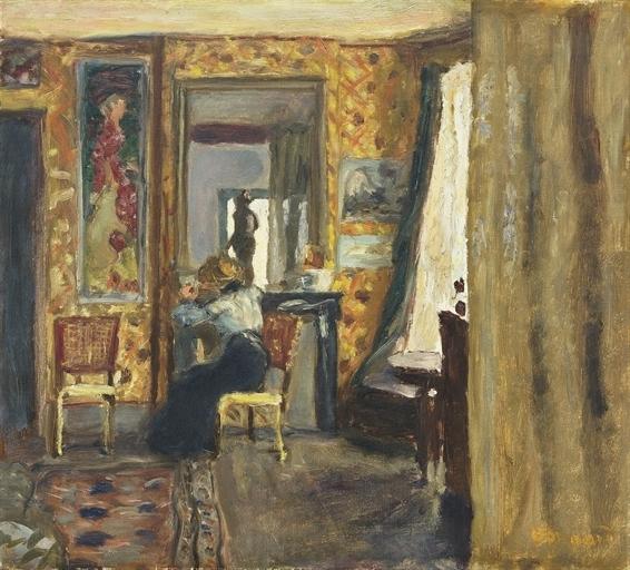 Artwork by Pierre Bonnard, Femme dans un intérieur, Made of oil on canvas