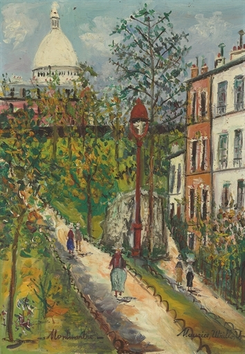 Artwork by Maurice Utrillo, Montmartre