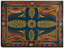 Artwork by Adolf Wölfli, Erklärung: Hiesiges Bild ist, das Kardu-Skt. Adolf-Kreutz, Made of Color chalks and pencil