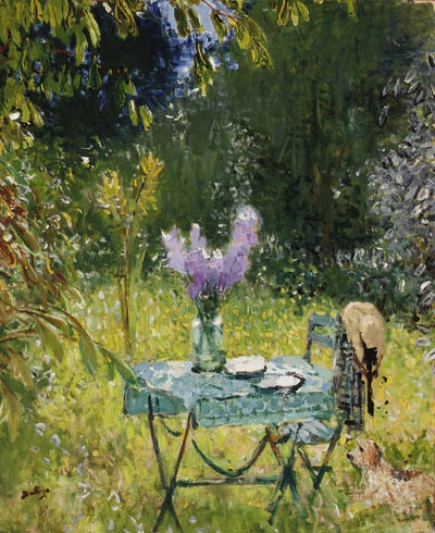 Artwork by Pierre Eugène Montézin, Table au jardin (Table in the Garden)