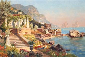 A Mediterranean Coastal Village By Alois Arnegger