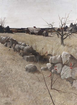 The Stone Fence By Andrew Wyeth