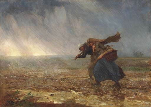 Victor-Gabriel Gilbert, Caught in the storm