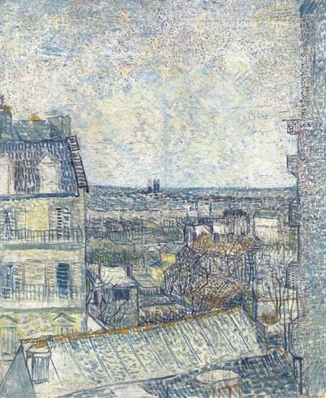 Van Gogh Vincent Vue De La Chambre De L Artiste Rue Lepic 1887