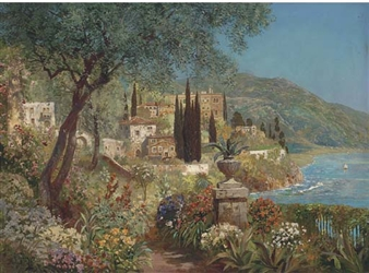 A garden path on the Capri coast By Alois Arnegger