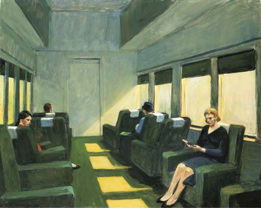 Artwork by Edward Hopper, Chair Car, Made of oil on canvas