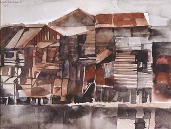 Barung-Barung (Houses) By Vicente Manansala