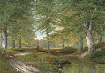 A faggot gatherer on a forest track By Alois Arnegger