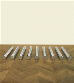 Artwork by Walter De Maria, Large Rod Series: Circle/Rectangle 5, 7, 9, 11, 13