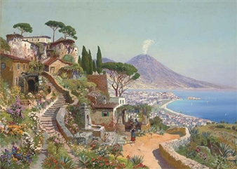 A pensione above the Bay of Naples By Alois Arnegger