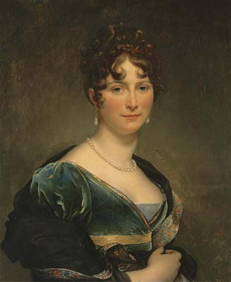 Artwork by François Pascal Simon Gérard, Portrait of Baronesse Mathieu de Favier, Marquise de Jaucourt, Made of oil on canvas