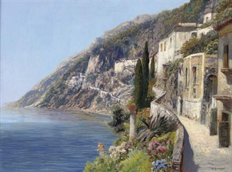 A village on the Capri coast By Alois Arnegger