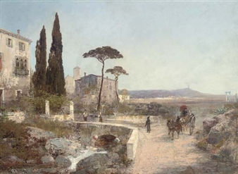 A bridge on the road to Naples By Alois Arnegger