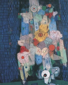 Artwork by Mordecai Ardon, Timepecker