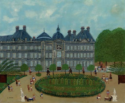 artwork by louis vivin le jardin du luxembourg made of oil on canvas - Le Jardin Du Luxembourg