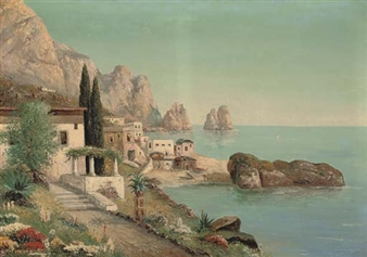 A village before I Faraglione, Capri By Alois Arnegger