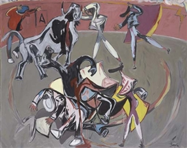 Artwork by Juan Barjola, Plaza de toros