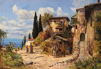 A Neapolitan village By Alois Arnegger