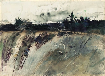 Waldoboro Woods By Andrew Wyeth
