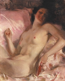 Artwork by Howard Chandler Christy, Portrait of a Nude Woman in Repose