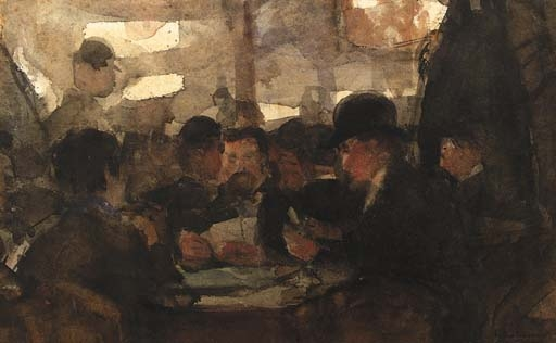 artwork by floris arntzenius caf intrieur made of watercolour