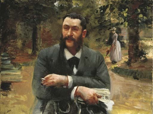 Artwork by Gustave Caillebotte, L'homme au Gil Blas, Made of oil on canvas