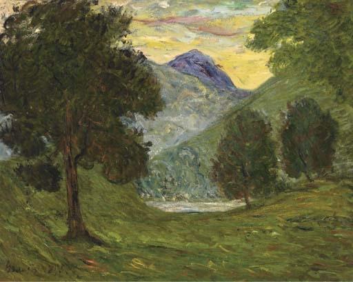 Artwork by Maxime Maufra, La vallée de Glencoe--Ecosse, Made of oil on canvas
