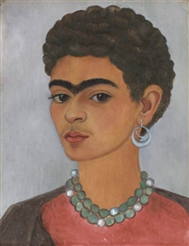 Artwork by Frida Kahlo, Self-Portrait with Curly Hair