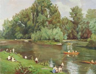 Au bord de la Marne By Emile Bernard