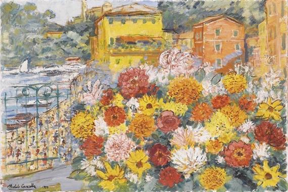 Cascella Michele | Fiori sul terrazzo (1979) | MutualArt