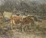 Paul Paeschke, Rinderkarren auf einem mecklenburgischen Bauernhof
