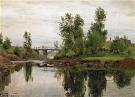 Carl Frederik Aagaard, Scenery from the mouth of a stream.