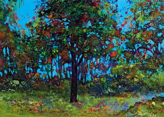 Artwork By Ernst Fuchs, Der Baum Der Erkenntnis Im Garten Eden
