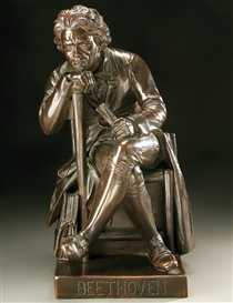 Artwork by William Wetmore Story, Seated Beethoven,, Made of Bronze with brown patina.