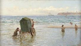 Artwork by Hamilton Macallum, BY THE SEASIDE, Made of oil on canvas
