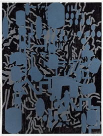 Artwork by Barry Le Va, Composition - Horizontal, Made of Woodcut
