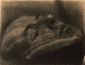 Artwork by Margrethe Mather, Henry Cowell (as a Brancusi sculpture), Made of Platinum print