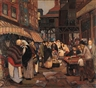 Peter Krasnow, Market Scene, New York