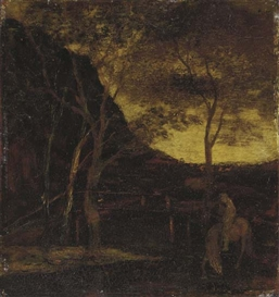 Artwork by Albert Pinkham Ryder, At the Ford