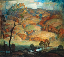 Artwork by N.C. Wyeth, Chadds Ford Hills