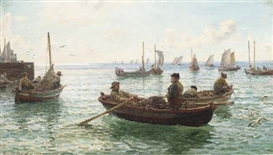 Hamilton Macallum, Lobster fishermen leaving harbour