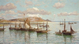 Artwork by Hamilton Macallum, A Scilly Anchorage