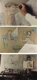 Artwork by Jean Le Gac, Le délassement d'un peintre parisien (avec bohême)