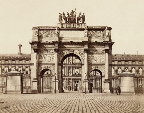 Baldus douard denis paris arc du carrousel 1850 mutualart - Edouard denis envers du decor ...