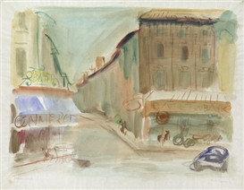 Artwork by Werner Laves, Aix en Provence, Made of Watercolor on Arches-paper