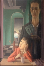 Artwork by Hans Maas, L'enfant et le masque, Made of Oil on panel