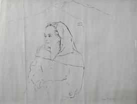 Artwork by Boris Taslitzky, Signée et date en bas à droite, Made of India Ink