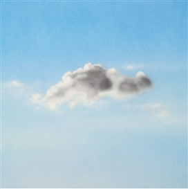 Artwork by Finn Frithioff Johansen, Solitaire-sky, Made of Acrylic on canvas