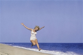 Artwork by Sam Shaw, Marilyn Monroe on the beach, Easthampton, Made of Cibachrome print